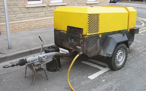 дизельный компрессор для подачи воздуха