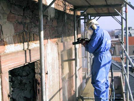 чистка фасада бластинг